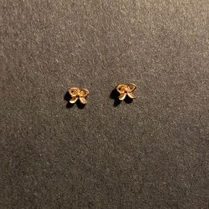 Tiny Gold Bow Earrings